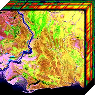 Hyperspectral imaging - Two-dimensional projection of a hyperspectral cube