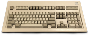 Model M keyboard - Among the first IBM Model Ms. This particular unit was manufactured in 1986.