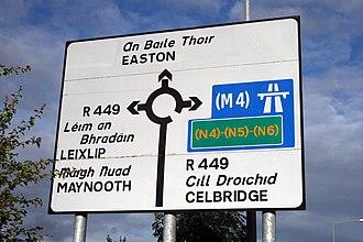 R449 road (Ireland) - Image: IMG Sign R4492829
