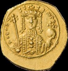 Golden coin depicting Theodora