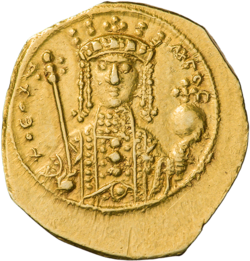 Golden coin depicting Theodora