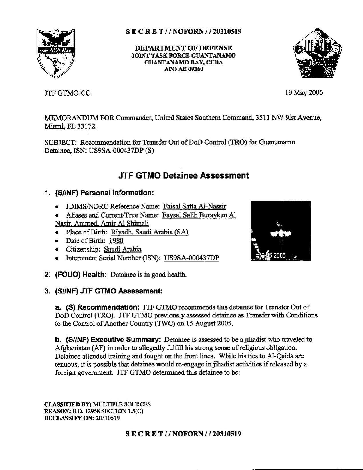 ISN 437's Guantanamo detainee assessment.pdf