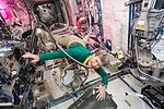 ISS-50 Peggy Whitson on the Fluids System Servicer in the Columbus module.jpg