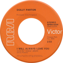 I will always love you by Dolly Parton 1974 US single.png