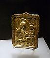 Icona amb la Mare de Déu Odigitria, Bizanci, Quersonés, Crimea, segle XII, bronze daurat.JPG