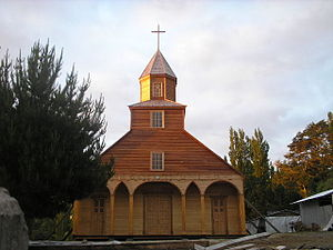 Churches of Chiloé - Image: Iglesia de Ichuac