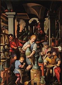Historia de la qumica wikipedia la enciclopedia libre el laboratorio del alquimista de giovanni stradano 1570 urtaz Gallery
