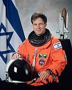Ilan Ramon, NASA photo portrait in orange suit.jpg