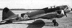 Jorma Sarvanto - An Ilyushin DB-3M in Finnish markings