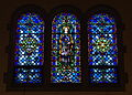 Immaculate Conception Church (Columbus, Ohio) - stained glass, Queen of All Saints, Queen of the Most Holy Rosary, Morning Star.jpg