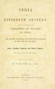 India in the Fifteenth Century, being a Collection of Narratives of Voyages to India.djvu