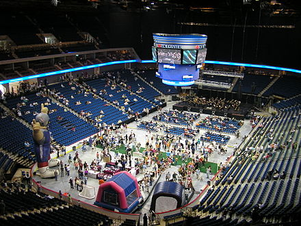 A public open house on August 30, 2008 served as the arena's opening event. Inside BOK Center.JPG