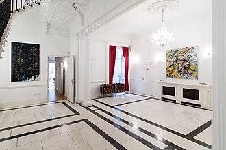 Frances Aviva Blane - Installation view (2016) of Frances Aviva Blane show Two Faces at the German Ambassador's Residence, London