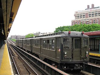 Interborough Rapid Transit Company - IRT Lo-Voltage motor cars at Mosholu Parkway station