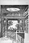 interieur tekening uit koninklijk huisarchief - apeldoorn - 20023619 - rce