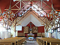 Interior of Saint Michael Archangel church in Puszcza Mariańska (brick church) - 01.jpg