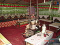 Interior of tea-househotel at Everest Base Camp.JPG