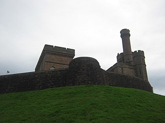 Siege of Inverness (1562) - Inverness Castle in modern times. Some of the old curtain wall can be seen in the foreground, while the castle building itself was rebuilt in 1836