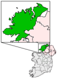 Ireland map County Donegal Magnified.png