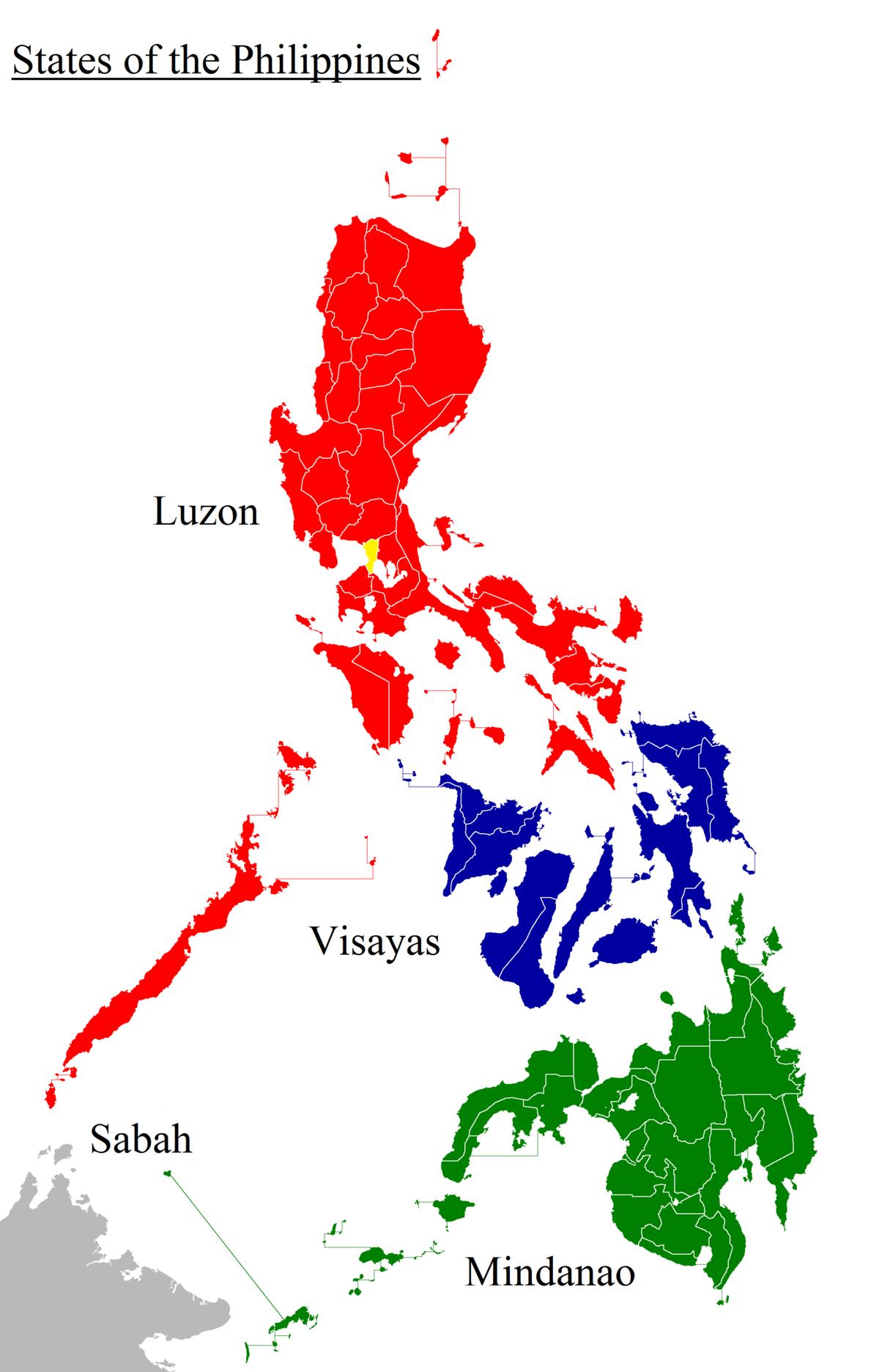 Resultado de imagen de regiones filipines