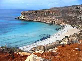 Lampedusa - Rabbit Beach in the southern part of Lampedusa