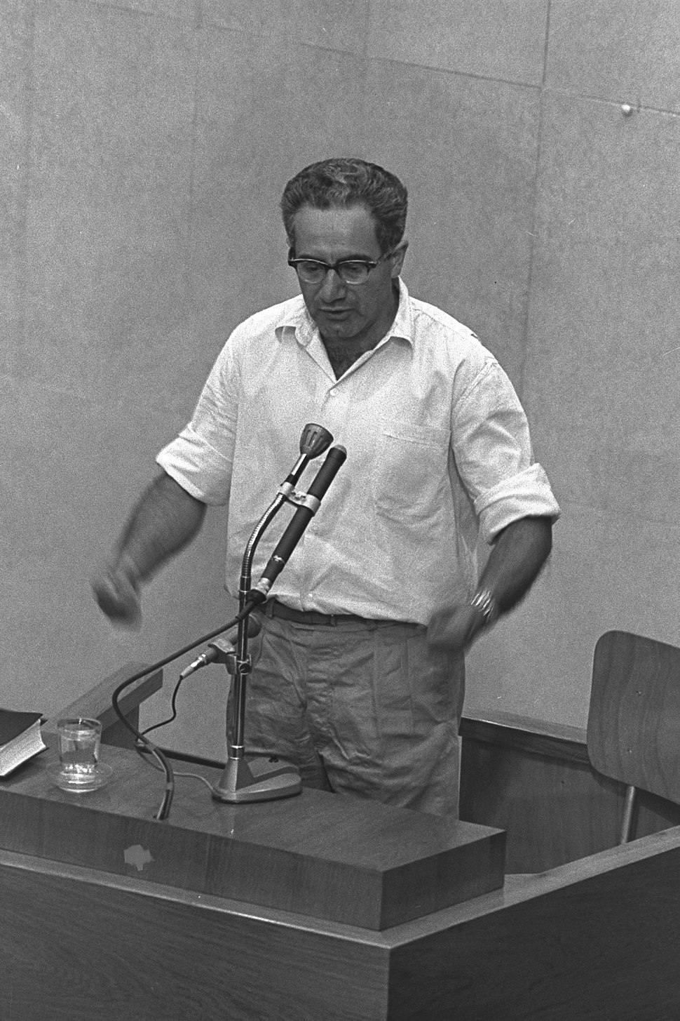 Israel Guttman at Eichmann trial1961