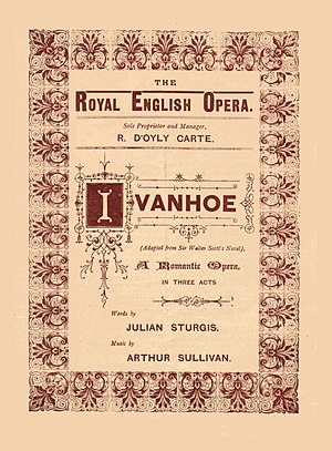 Julian Sturgis - Programme for Ivanhoe, 1891