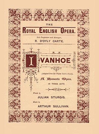 Ivanhoe (opera) - Standard programme cover