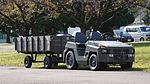 JASDF 2t Class Tractor(Toyota L&F 2TG20) & trailer at Gifu Air Base October 30, 2016.jpg