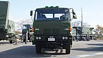 JASDF Missile Transporter(HINO Super Dolphin, 49-0167) front view at Aibano Sub Base November 28, 2015.jpg