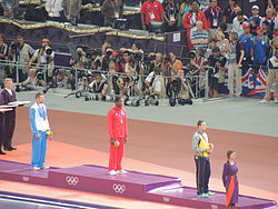 JT victory ceremony London 2012.JPG
