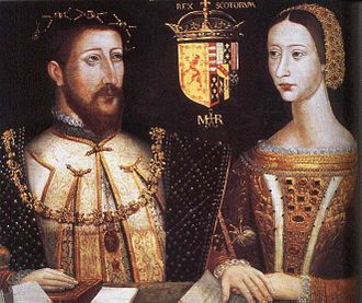 "Education in early modern Scotland - Mary of Guise, patron of the public lectures in Edinburgh that became the ""Tounis College"", and husband, James V of Scotland"