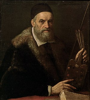 Jacopo Bassano - Self-portrait in later age