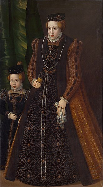 Maria of Austria, Duchess of Jülich-Cleves-Berg - Maria and her daughter Marie Eleonore