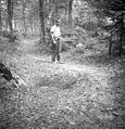 Jama kot prepovedana naprava (pregraja) v Ihanovem gozdu, naredil Ihan iz Sel 1950.jpg
