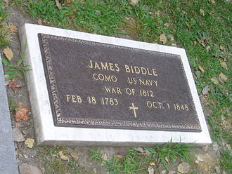 James Biddle - James Biddle's grave marker at Christ Church Burial Ground in Philadelphia