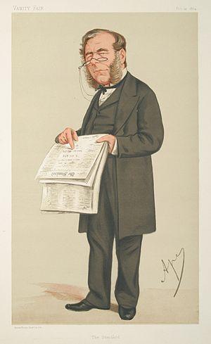 James Johnstone (publisher) - Johnstone caricatured by Ape for Vanity Fair, 1874