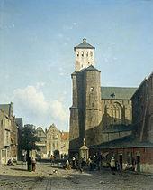 Stiftskirche Saint-Denis in Lüttich (Jan Weissenbruch). (Quelle: Wikimedia)