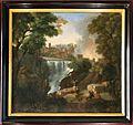 Jan frans van bloemen detto orizzonte (attr.), paesaggio con cascata, 1690-1730 ca.jpg