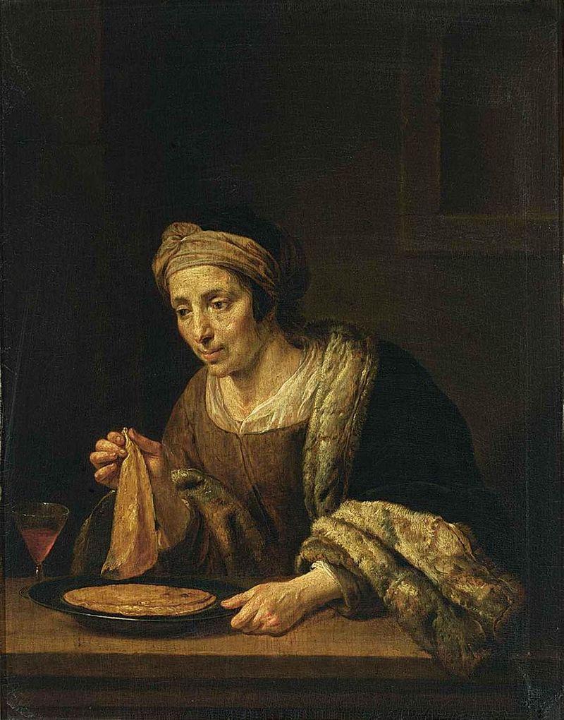 Jan van Bijlert - A Woman Holding Pancakes - WGA2185.jpg