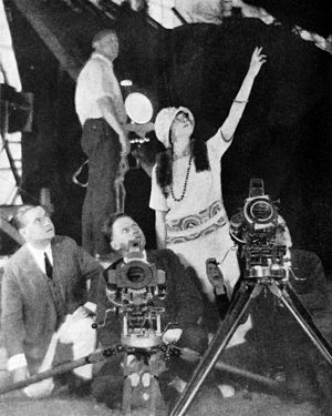 Jane Murfin - Murfin ordering the placement of lights on a film she is directing (1924)