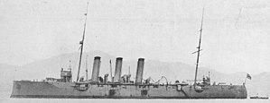 Japanese cruiser Niitaka - Image: Japanese cruiser Niitaka in 1922