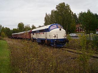 Järnforsen - Tourist train on a business track in Järnforsen (2013)
