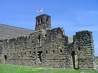 Monkwearmouth–Jarrow Abbey - Monastery remains at Jarrow in front of St Paul's Church