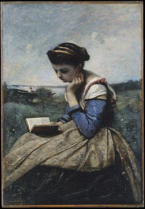 Femme Lisant - Image: Jean Baptiste Camille Corot 031