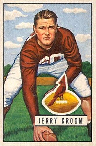 Jerry Groom - Groom on a 1951 Bowman football card