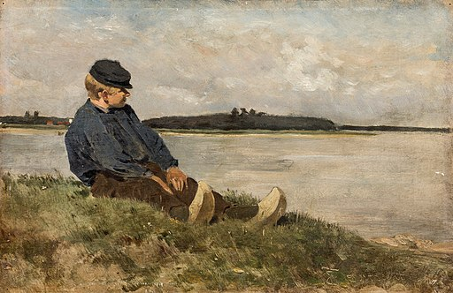 Jettel – Boy sitting by a river