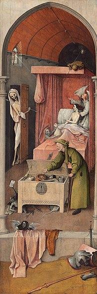 Hieronymus Bosch | Death of a Miser