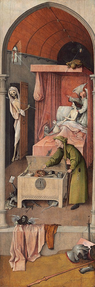 Jhieronymus Bosch - Visions of genius (exhibition) - Death and the Miser, on loan to the exhibition form the National Gallery of Art, DC