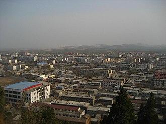 Jiaxiang County - Jiaxiang town center